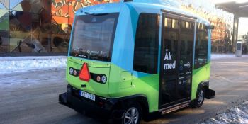 Self-driving shuttle buses hit Stockholm's streets