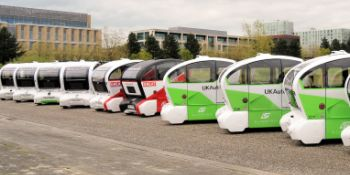 UK's first driverless pods arrive ahead of landmark testing