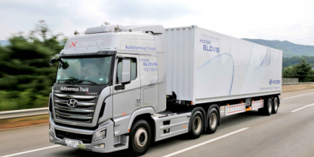 Hyundai Motor completes first autonomous truck highway